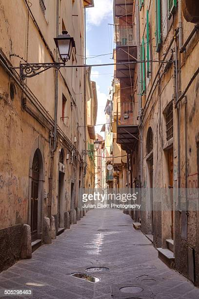 The narrow streets of the historic centre of Pisa