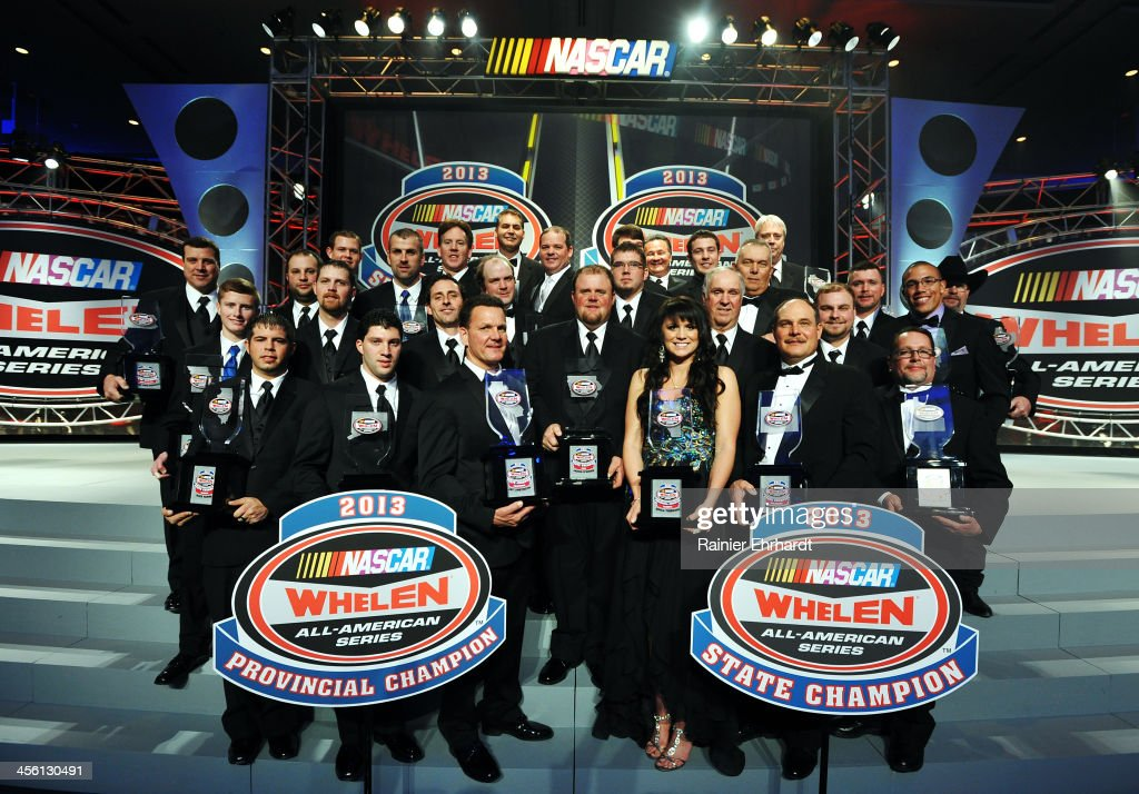 The NASCAR State and Provincial Champions pose for a photograph during the NASCAR All-American Series Awards at Charlotte Convention Center on December 13, 2013 in Charlotte, North Carolina.