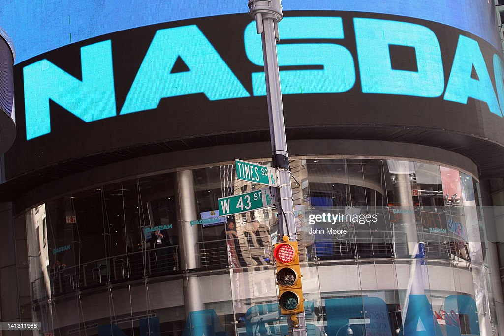 The Nasdaq stock market is seen at Times Square on March 14 2012 in New York City The techladen Nasdaq Composite Index surged over 3000 this week the...