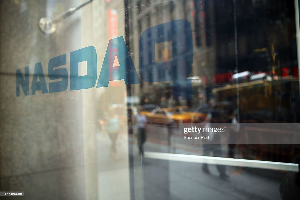 The Nasdaq stock market is viewed one day after the the electronic exchange experienced a a threehour trading delay due to a technical problem on...