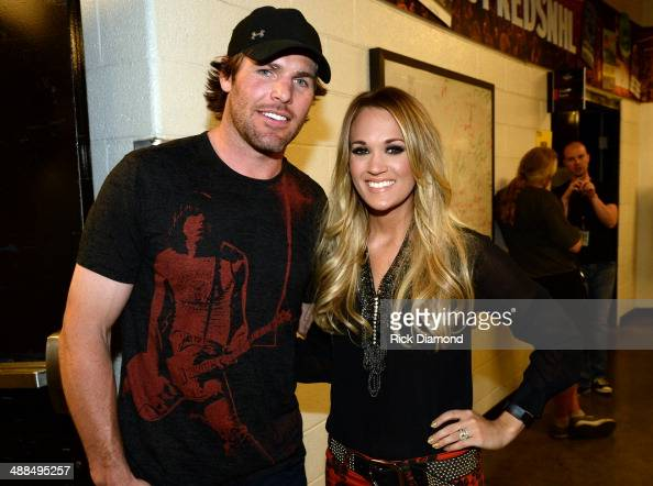 The Nashville Predators' Mike Fisher and Carrie Underwood attend Keith Urban's Fifth Annual 'We're All 4 The Hall' Benefit Concert at the Bridgestone...