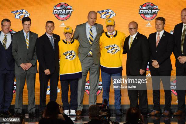 The Nashville Predators select left wing Eeli Tolvanen with the 30th pick in the first round of the 2017 NHL Draft on June 23 at the United Center in...