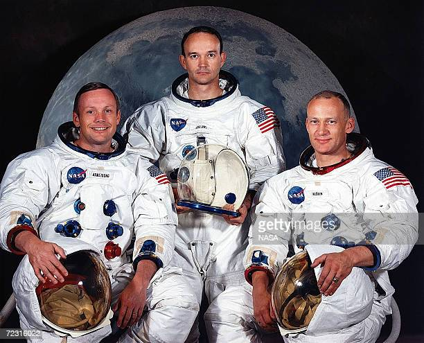 The National Aeronautics and Space Administration has named these three astronauts as the prime crew of the Apollo 11 lunar landing mission Left to...