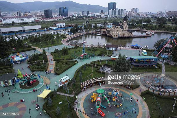 The National Amusement Park known as the Children's Park stands in Ulaanbaatar Mongolia on Wednesday July 13 2016 The nation's growth slowed to 23...