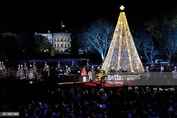 The National Christmas Tree Lighting Ceremony in President's Park on December 3 2015 in Washington DC