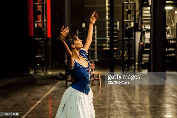 The national dancer ballet of Cuba with the first ballet dancer Grettel Morejon during répétitions in ballet costume in Theatros del canal may 12...