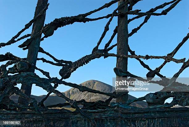 The National Famine Monument with Croagh Patrick in the background was unveiled by Mary Robinson the President of Ireland at the time on July 20th...