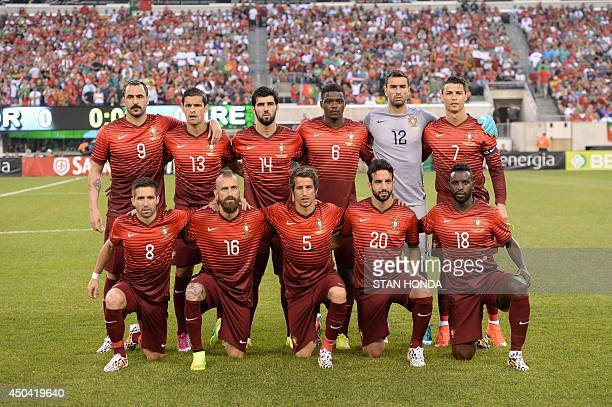 The National Football Team of Portugal poses for a picture during an international friendly match against the Republic of Ireland on June 10 2014 at...