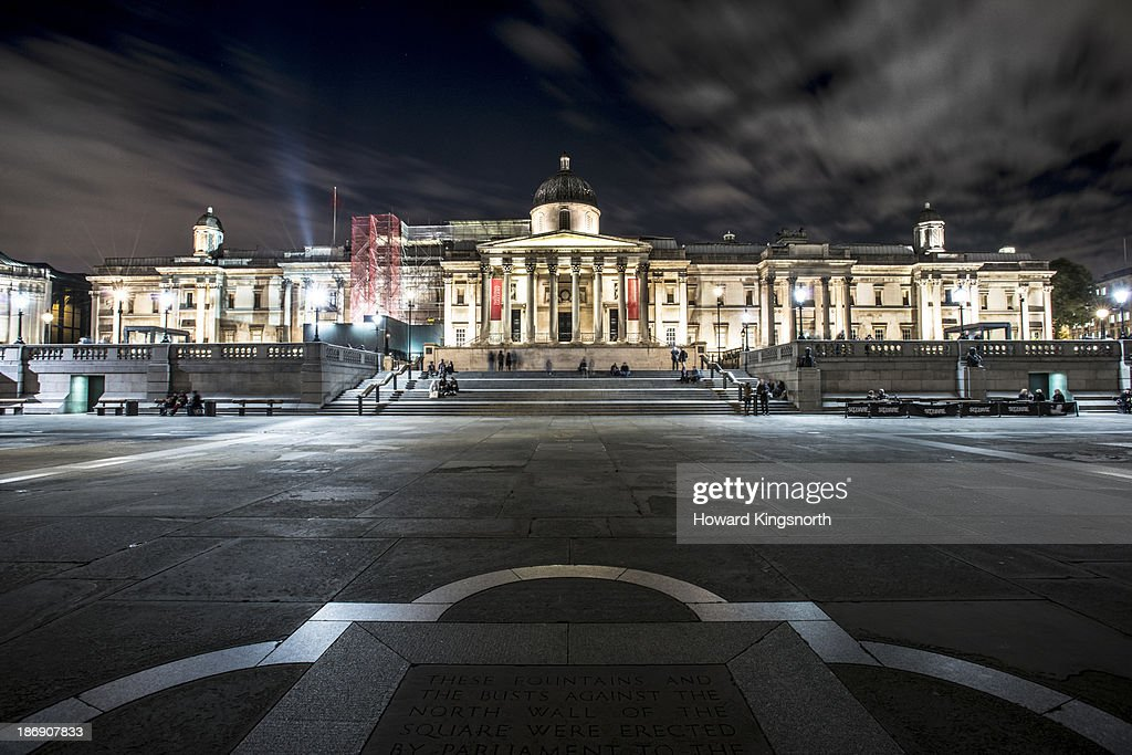 The National Gallery and Trafalgar Sq