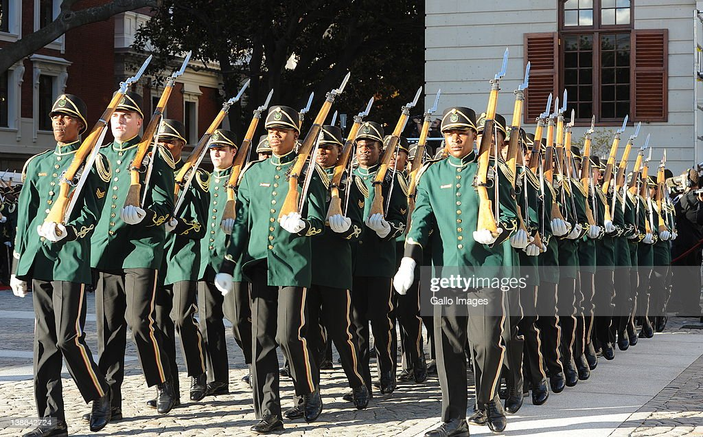 The National Guard at the opening of Parliament in Cape Town, South Africa on 9 February 2012. Parliament was opened in the annual ceremony where President Jacob Zuma delivered his state of the nation address.