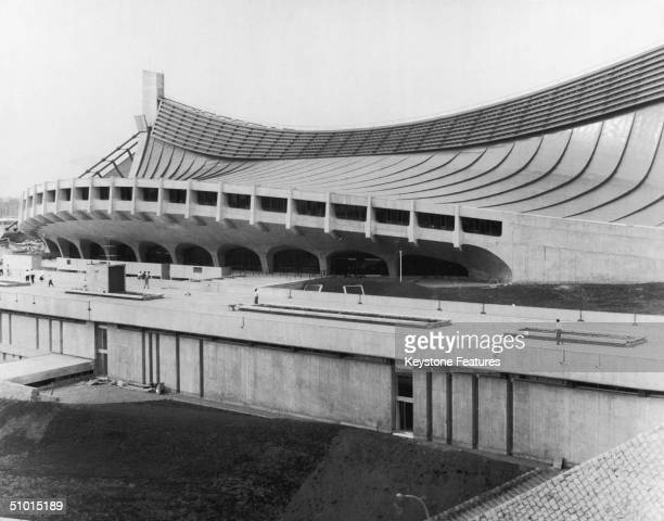 The National Gymnasium of the Olympic Village at Yoyogi in Tokyo where the athletes will live for the duration of the games 1964