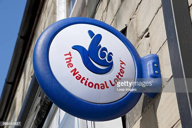 The National Lottery sign on a shop