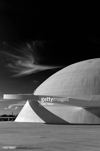 The national museum designed by architect Oscar Niemeyer photographed on March 17 2011 in Brasilia Brazil