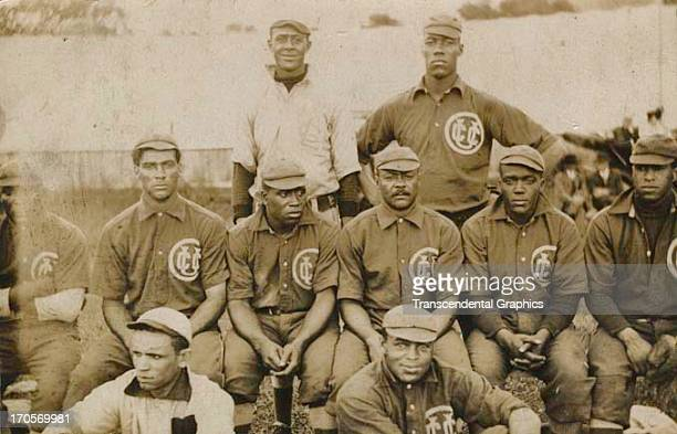 The National Negro League team the Chicago Union Giants poses for a team photograph around 1905 in Chicago Illinois