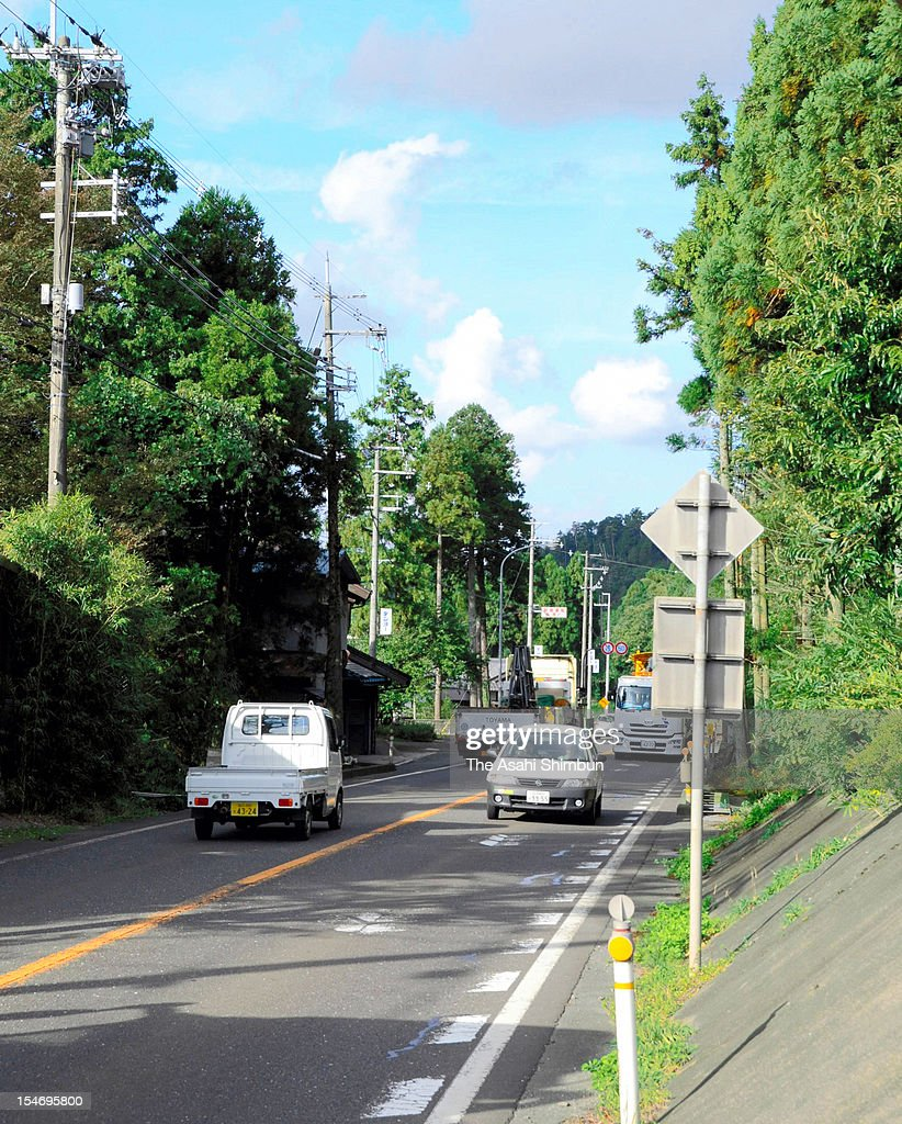 The national road 27, only main road to connect the Kansai Electric Power Co., Oi Nuclear Power Plant and Tsuruga City, where 42,000 residents will be evacuating to when another nuclear disaster happened, is seen on October 24, 2012 in Wakasa, Fukui, Japan. A forecast of the radiation released in another nuclear accident shows that at four plants, a 30-kilometer evacuation zone would be insufficient for public safety, and that more distant residents would need to flee their homes too.