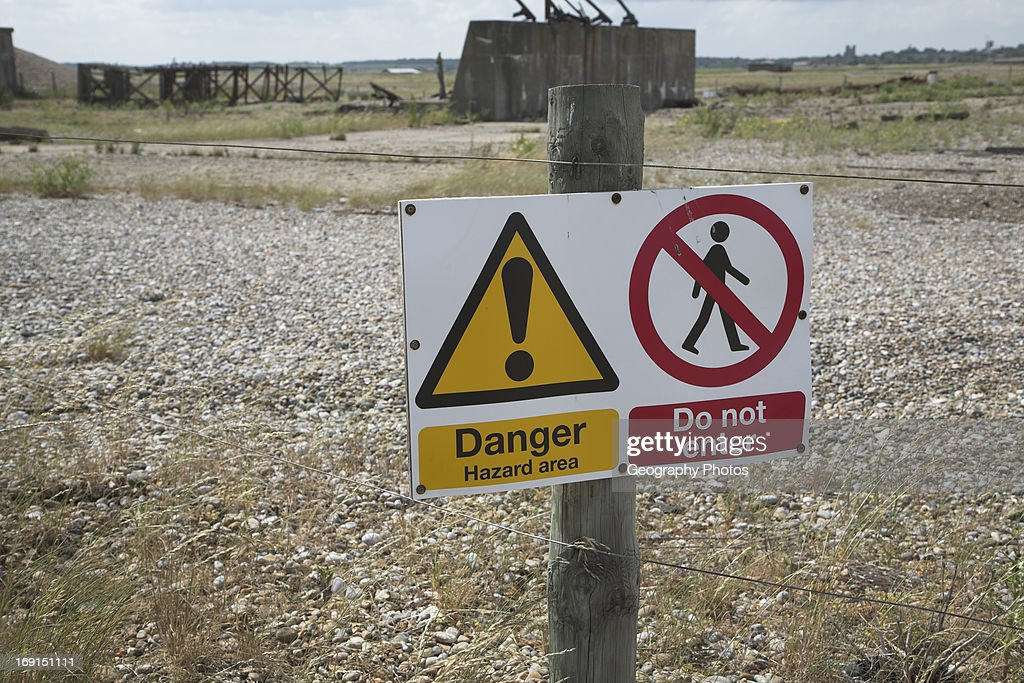 The National Trust manage the former secret weapons testing area on Orfordness Suffolk England
