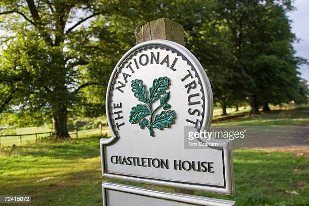 The National Trust Signpost for Chastleton House a Jacobean Manor in the Cotswolds UK