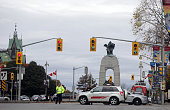 The National War Memorial site as seen looking north up Elgin St in downtown October 22 2014 in Ottawa Canada Officials are investigating multiple...