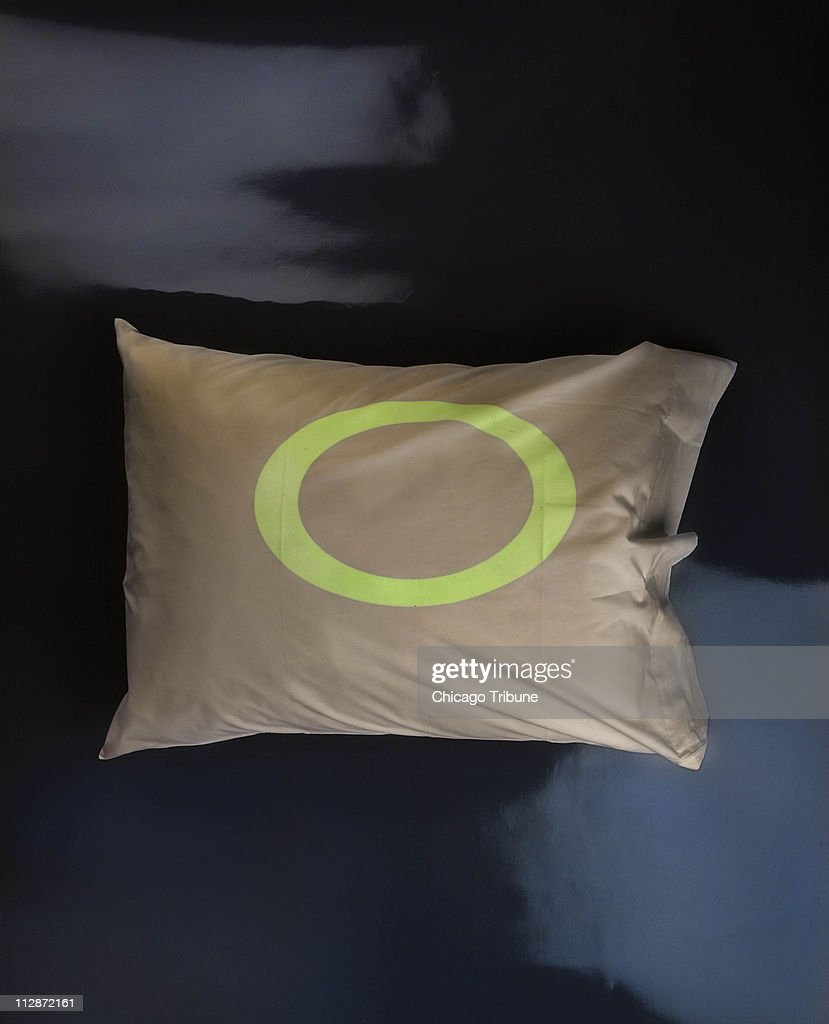 The naughtiest among us can undo a day of devilish behavior by falling asleep on this glowinthedark halo pillowcase