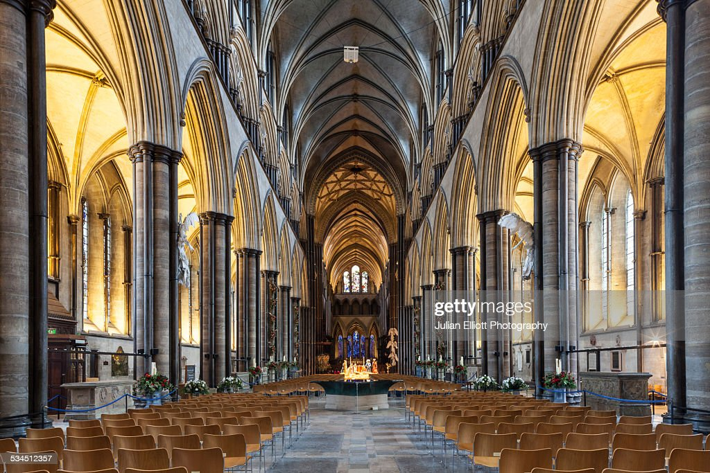 The Nave Of Salisbury Cathedral Uk Stock Photo | Getty Images