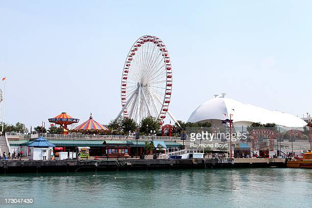 The Navy Pier Ferris Wheel in Chicago Illinois on JULY 01 2013