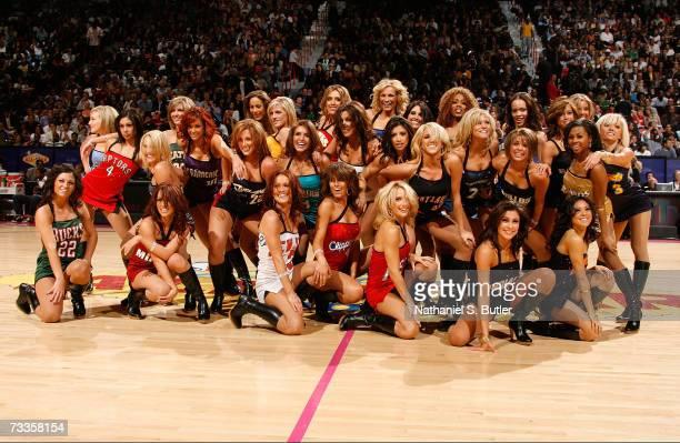 The NBA AllStar dance team performs during Footlocker ThreePoint Shootout at NBA AllStar Weekend on February 17 2007 at Thomas Mack Center in Las...