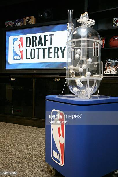 The NBA Draft Lottery Machine prior to the 2007 NBA Draft Lottery on May 22 2007 at the NBATV Studios in Secaucus New Jersey NOTE TO USER User...