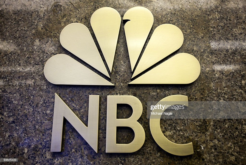 The NBC logo is seen on the entrance to NBC Studios on E 49th Street on December 1, 2009 in New York City. General Electric is poised to buy Vivendi's NBC Universal stake.