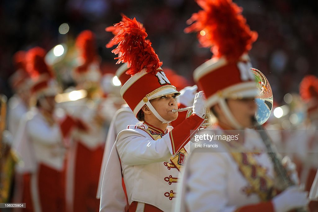The Nebraska Cornhuskers marching band performs before the game against the Penn State Nittany Lions at Memorial Stadium on November 10, 2012 in Lincoln, Nebraska. Nebraska beat Penn State 32-23.