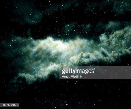 A nebulosa. : Foto de stock