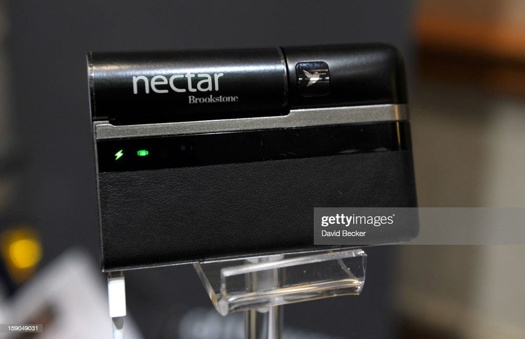 The Nectar by Lilliputian is on display at a press event at the Mandalay Bay Convention Center for the 2013 International CES on January 6, 2013 in Las Vegas, Nevada. The power supply provide a portable source to recharge your mobile devices. CES, the world's largest annual consumer technology trade show, runs from January 8-11 and is expected to feature 3,100 exhibitors showing off their latest products and services to about 150,000 attendees.