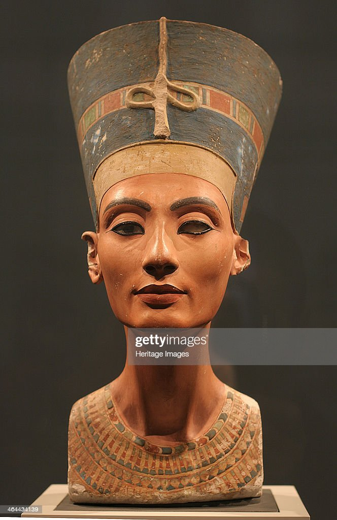 The Nefertiti Bust ca 1350 BC Found in the collection of the Staatliche Museen Berlin