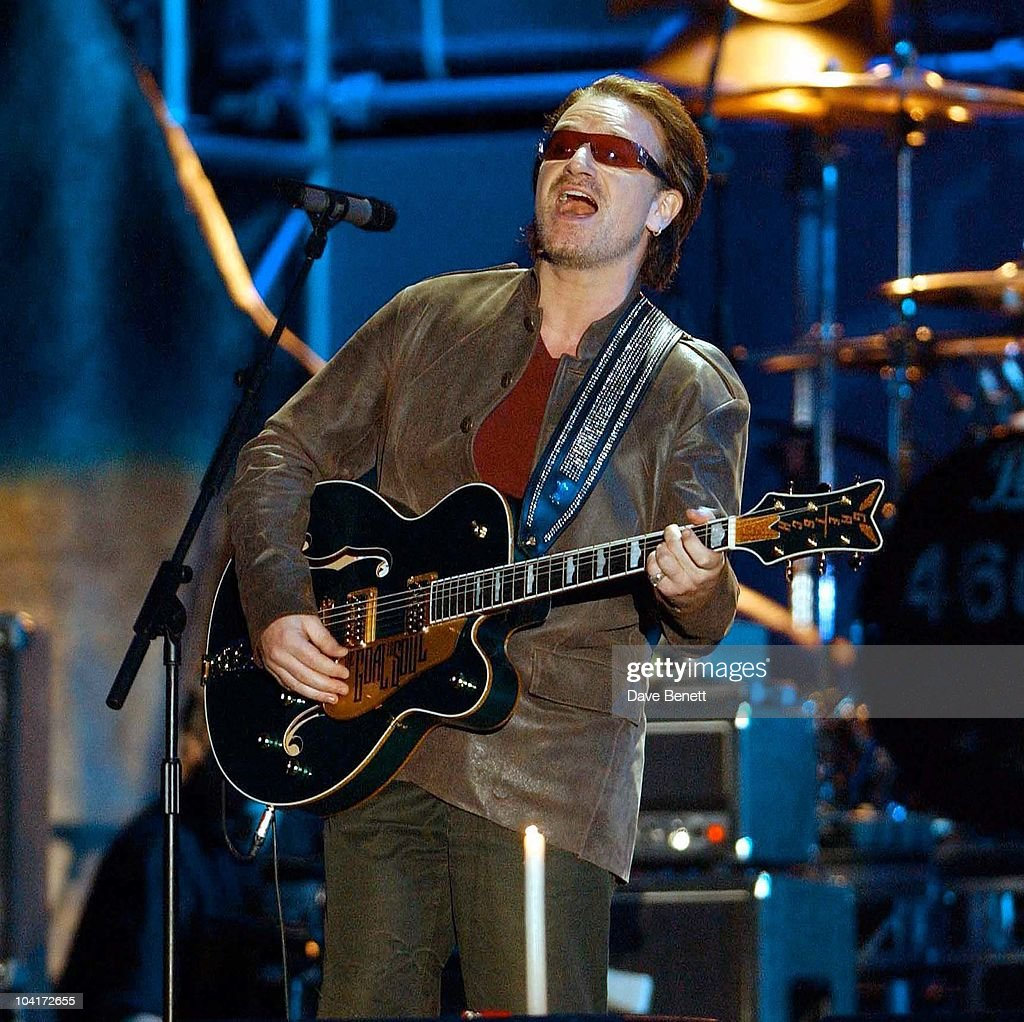 The Nelson Mandela Foundation's 46664 ' Give 1 Minute To Aids' Concert From The Greenpoint Stadium In Cape Town Africa, Bono