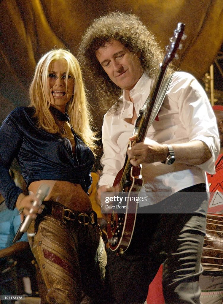 The Nelson Mandela Foundation's 46664 ' Give 1 Minute To Aids' Concert From The Greenpoint Stadium In Cape Town Africa, Anastasia And Brian May
