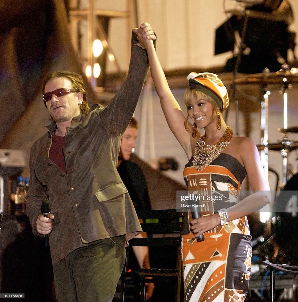 The Nelson Mandela Foundation's 46664 ' Give 1 Minute To Aids' Concert From The Greenpoint Stadium In Cape Town Africa, Bono And Beyonce Knowles