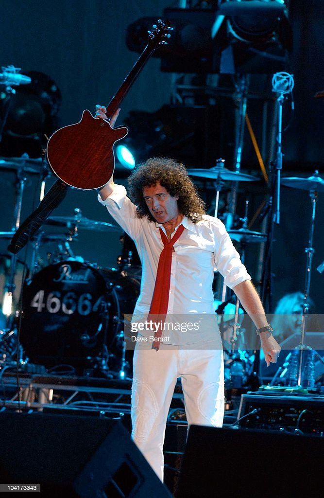 The Nelson Mandela Foundation's 46664 ' Give 1 Minute To Aids' Concert From The Greenpoint Stadium In Cape Town Africa, Brian May