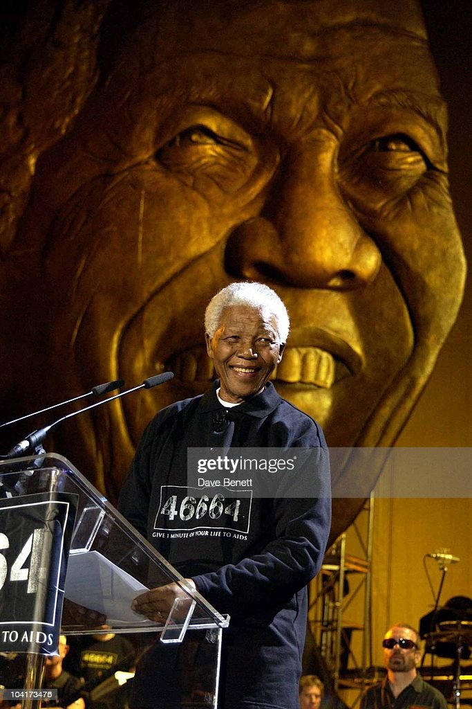 The Nelson Mandela Foundation's 46664 ' Give 1 Minute To Aids' Concert From The Greenpoint Stadium In Cape Town Africa, Nelson Mandela