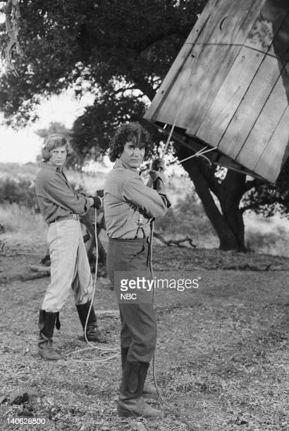 PRAIRIE 'The Nephews' Episode 14 Aired 1/19/81 Pictured Dean Butler as Almanzo James Wilder Michael Landon as Charles Philip Ingalls Photo by NBCU...
