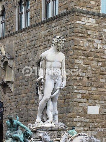 La Fuente De Neptuno Y Palazzo Vecchio De Florencia Italia Foto De