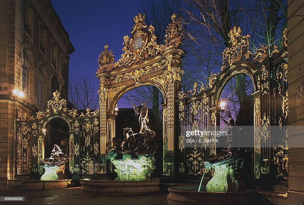 The Neptune fountain in Place Stanislas Nancy Lorraine France 18th century