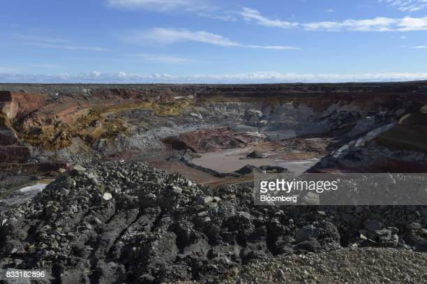 The Neptune open pit mine stands at the St Ives Gold Mine operated by Gold Fields Ltd in Kambalda Australia on Wednesday Aug 9 2017 Global gold deals...