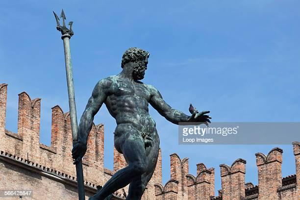 The Neptune statue in Piazza Maggiore in Bologna