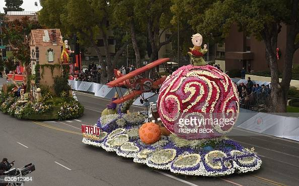 The Netflix float Soar Beyond Imagination portrays Antoine de SaintExupéry's The Little Prince in the 128th Rose Parade in Pasadena California...