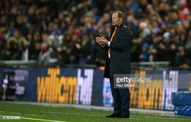 The Netherlands Coach Danny Blind looks on during the International Friendly match between England and Netherlands at Wembley Stadium on March 29...