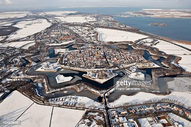 The Netherlands, fortified city of Naarden, winter