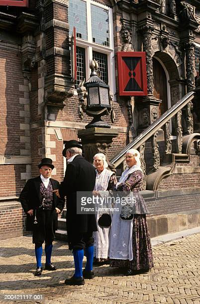 The Netherlands, Friesland, Bolsward, people in traditional costume