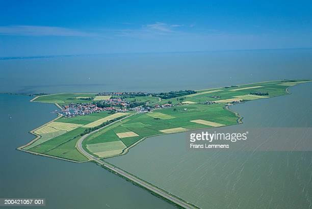 The Netherlands, Holland, Marken, aerial view