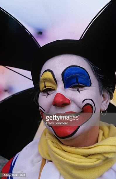 The Netherlands, Limburg,  Maastricht, woman with painted face
