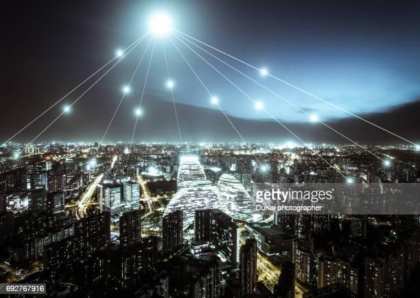 The network of city building in beijing cbd