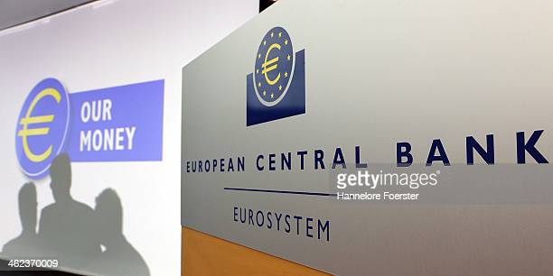 The new 10 Euro banknote is presented tot he media by the European Central Bank on January 13 2014 in Frankfurt am Main Germany The new design of the...